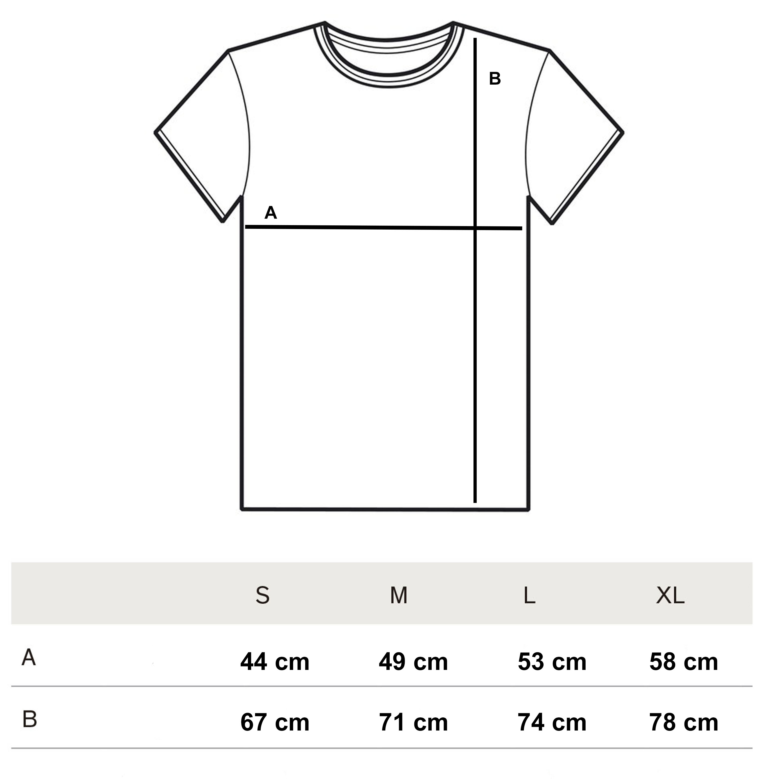 Denim Tee Size Guide