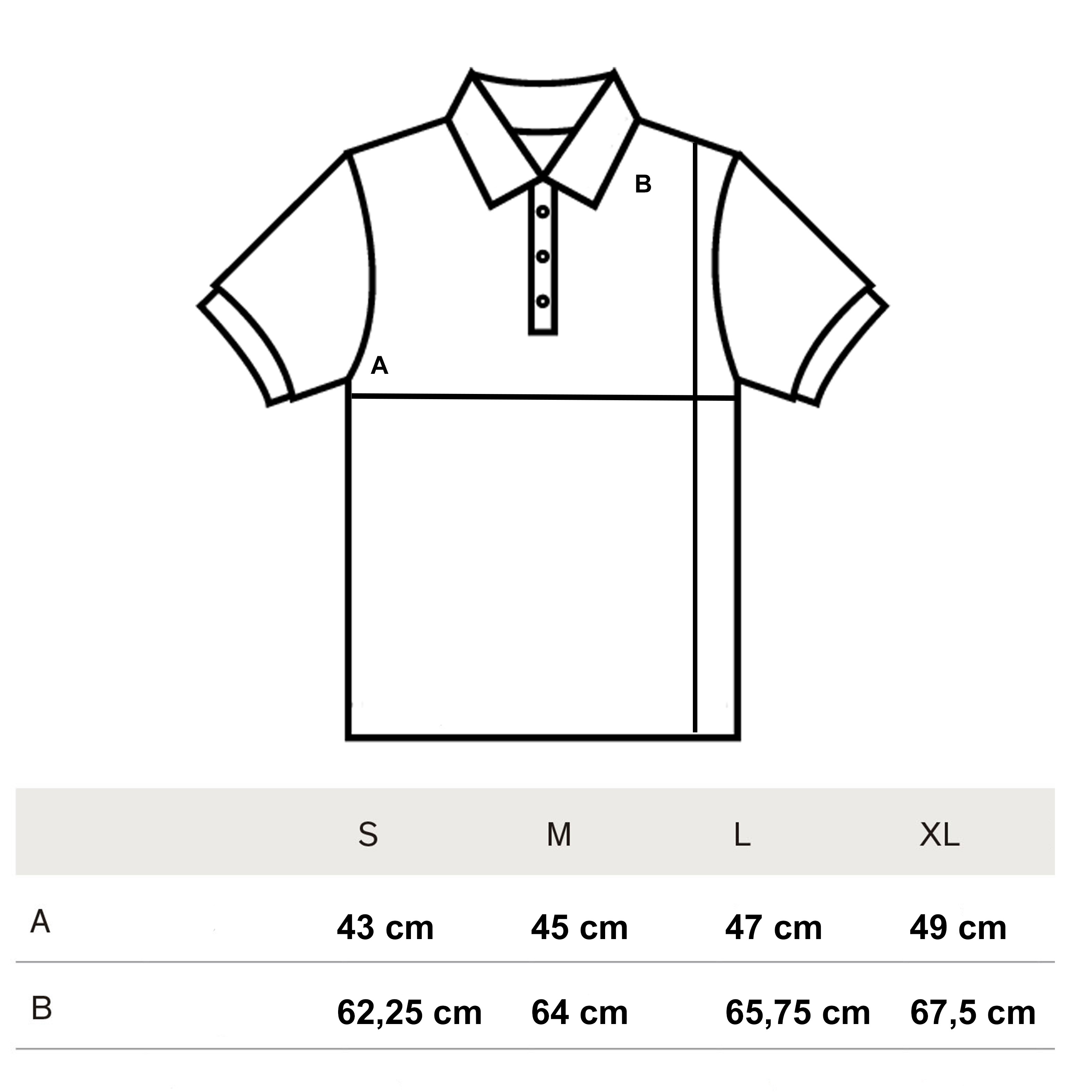 Summer Polo Size Guide