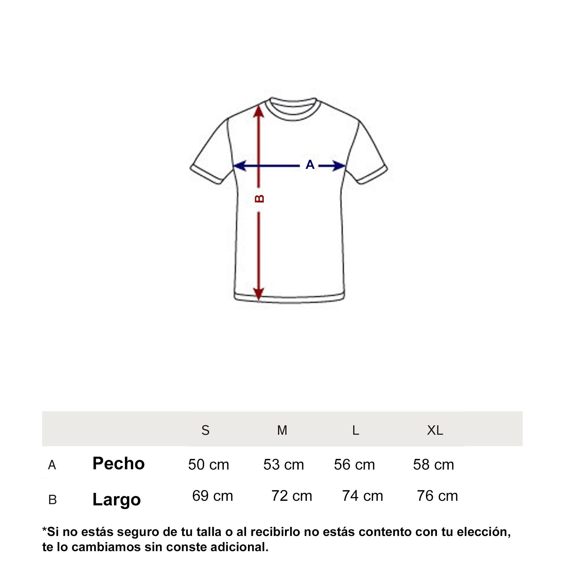 Guía de tallas camisetas invierno 2017