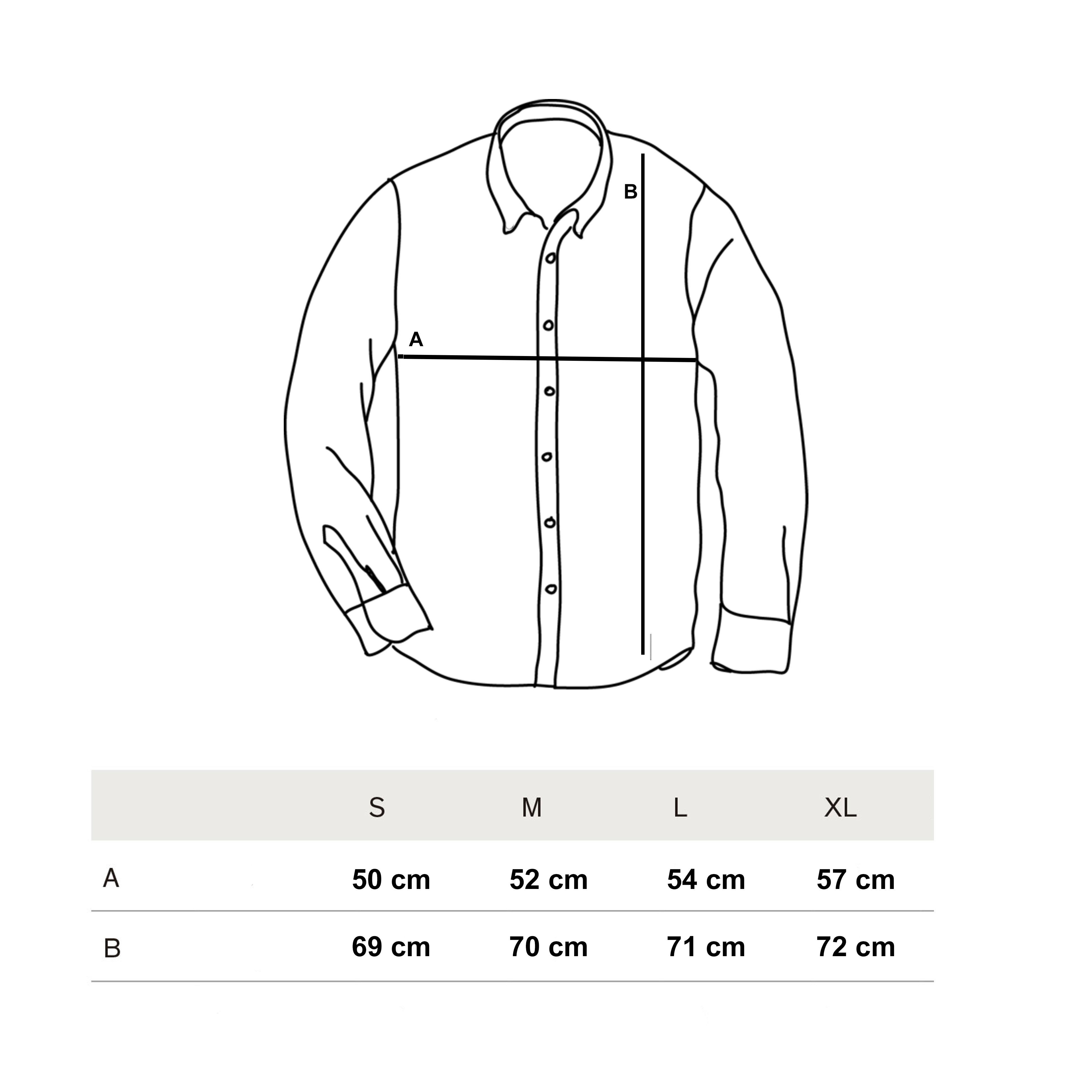 Guía de tallas camisa navajo invierno 2018