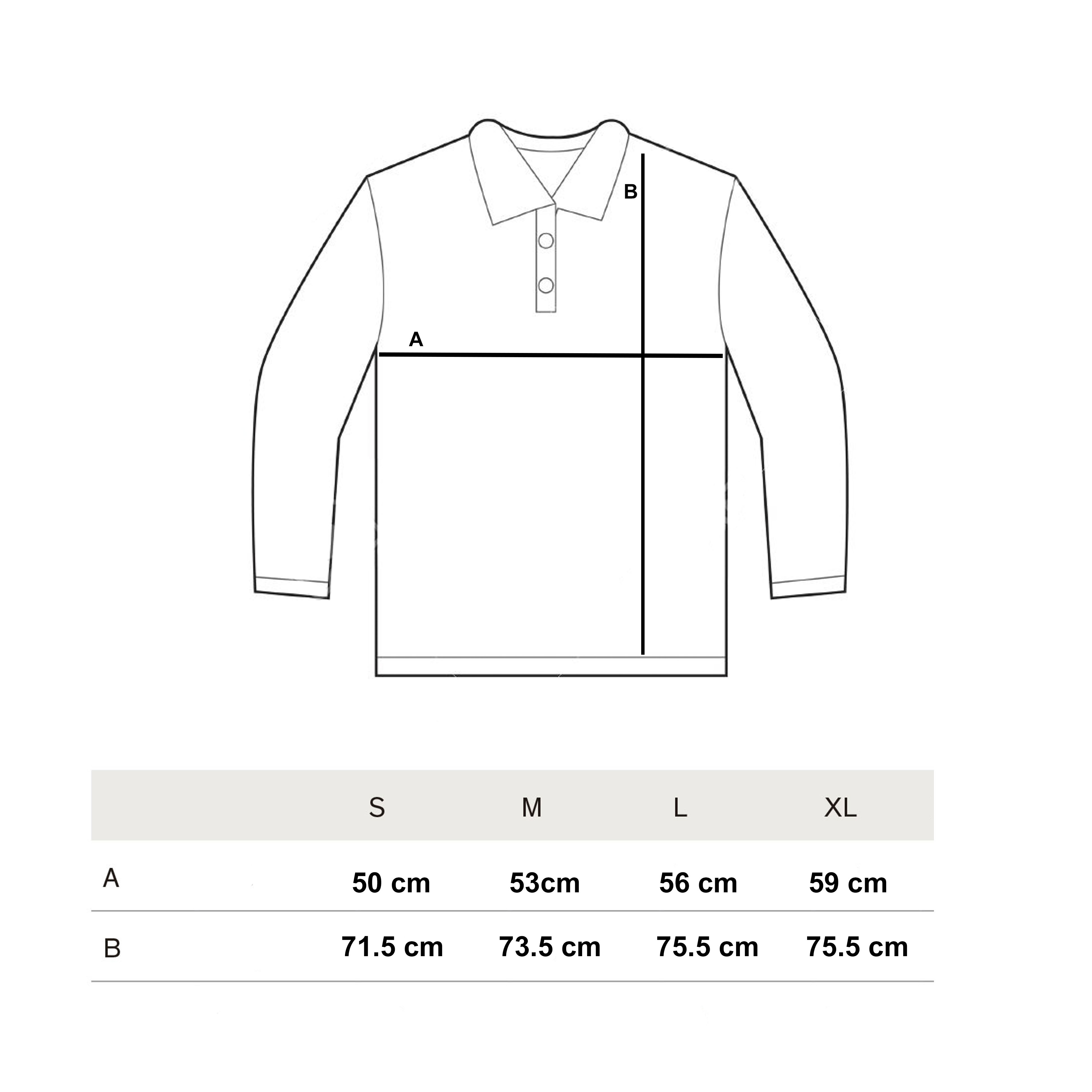 Rugby Polos Size Guide Winter 2018