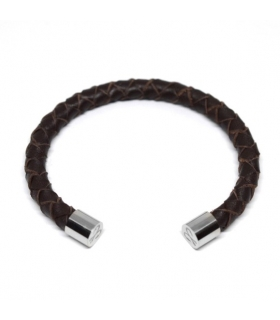 Lombardo Braided Leather Cuff