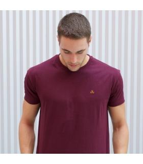 Camiseta Basic Burdeos