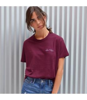 Camiseta Ola Burdeos