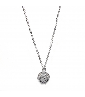 Silver Wave Stamp Necklace