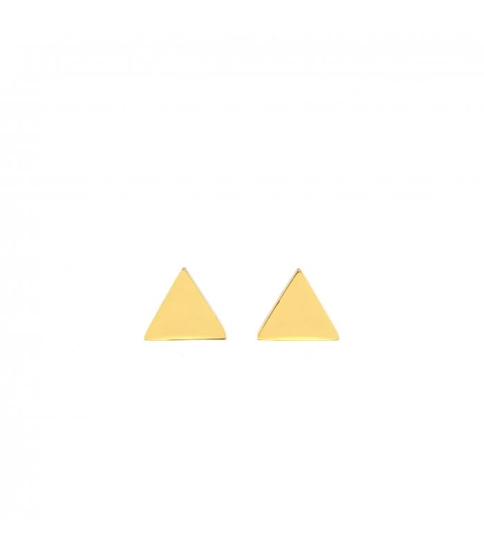 Pendientes Triangle Dorados