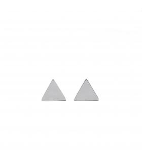 Pendientes Triangle Plateados