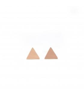 Triangle Rosegold Earrings