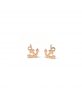 Anchor Silver Earrings