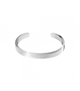 Live your Story Silver Cuff