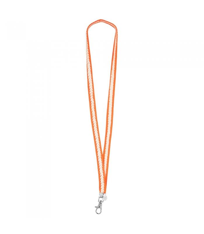 Llavero Lanyard Naranja Flúor