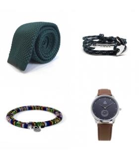 Pack Corbata + Pulsera + Cordón Gafas + Reloj