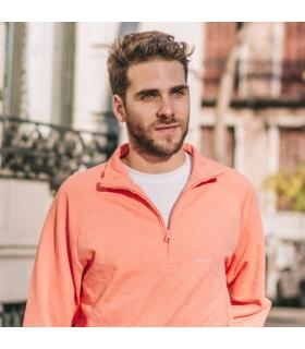 Orange Half Zip Sweatshirt