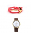 Pack Pulsera Ancla Naos + Reloj White Indian Golden