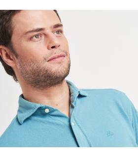 Camisa Piqué Azul Claro