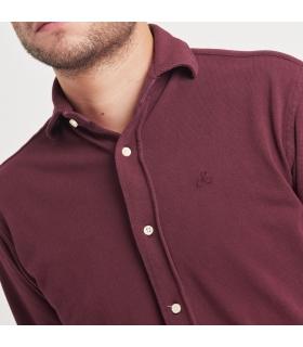 Camisa Piqué Burdeos