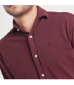 Burgundy Pique Shirt