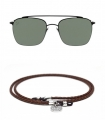 Sunglasses and Leather Glasses Strap Pack