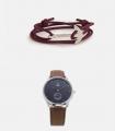 Pack Pulsera Ancla Saura + Reloj Blue Indian Silver