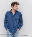 Dark Blue Pique Shirt