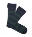 Calcetines Canalé Rayas Azul y Verde