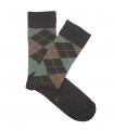 Brown and Green Rhombus Socks