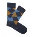 Calcetines Rombos Azul y Mostaza