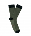 Green Herringbone Socks