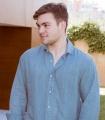 Camisa Lino Azul Plomo